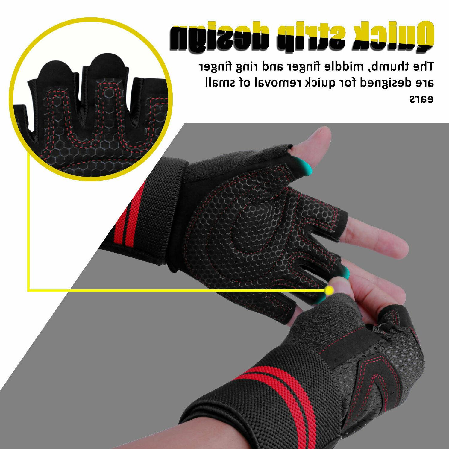 Mens Gloves With Wrap For Fitness