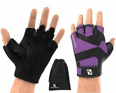 workout weight lifting gloves w silicone medium