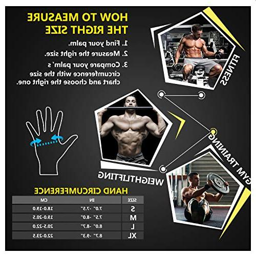 ihuan Wrist Gloves, Full and Better Ventilation Great for Training, Hanging, Pull Men &