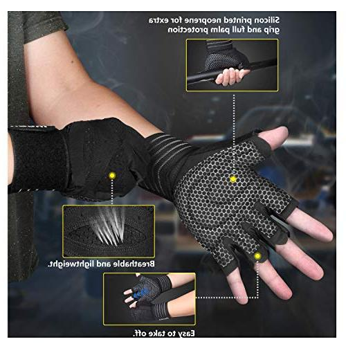 ihuan Professional Wrist Gloves, and Ventilation Great for Training, Fitness, Exercise, Hanging, Pull Men & Women