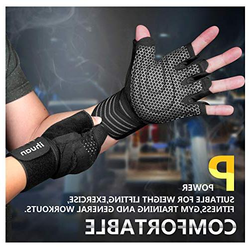 ihuan Professional Workout Gloves, Full Palm and Ventilation Great Training, Exercise, Hanging, Pull ups. & Women