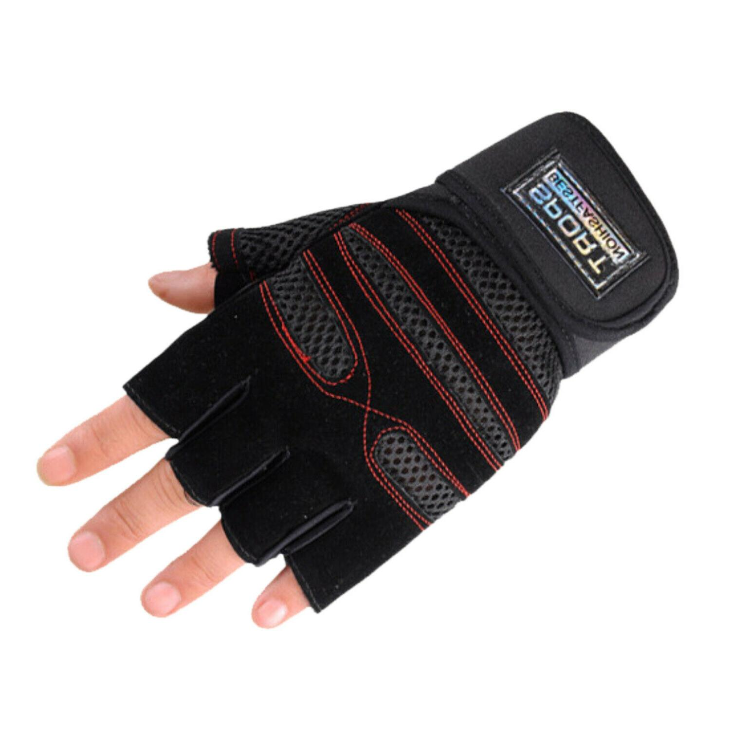 Wrist Wrap Fitness Workout Exercise Weightlifting Gym Gloves