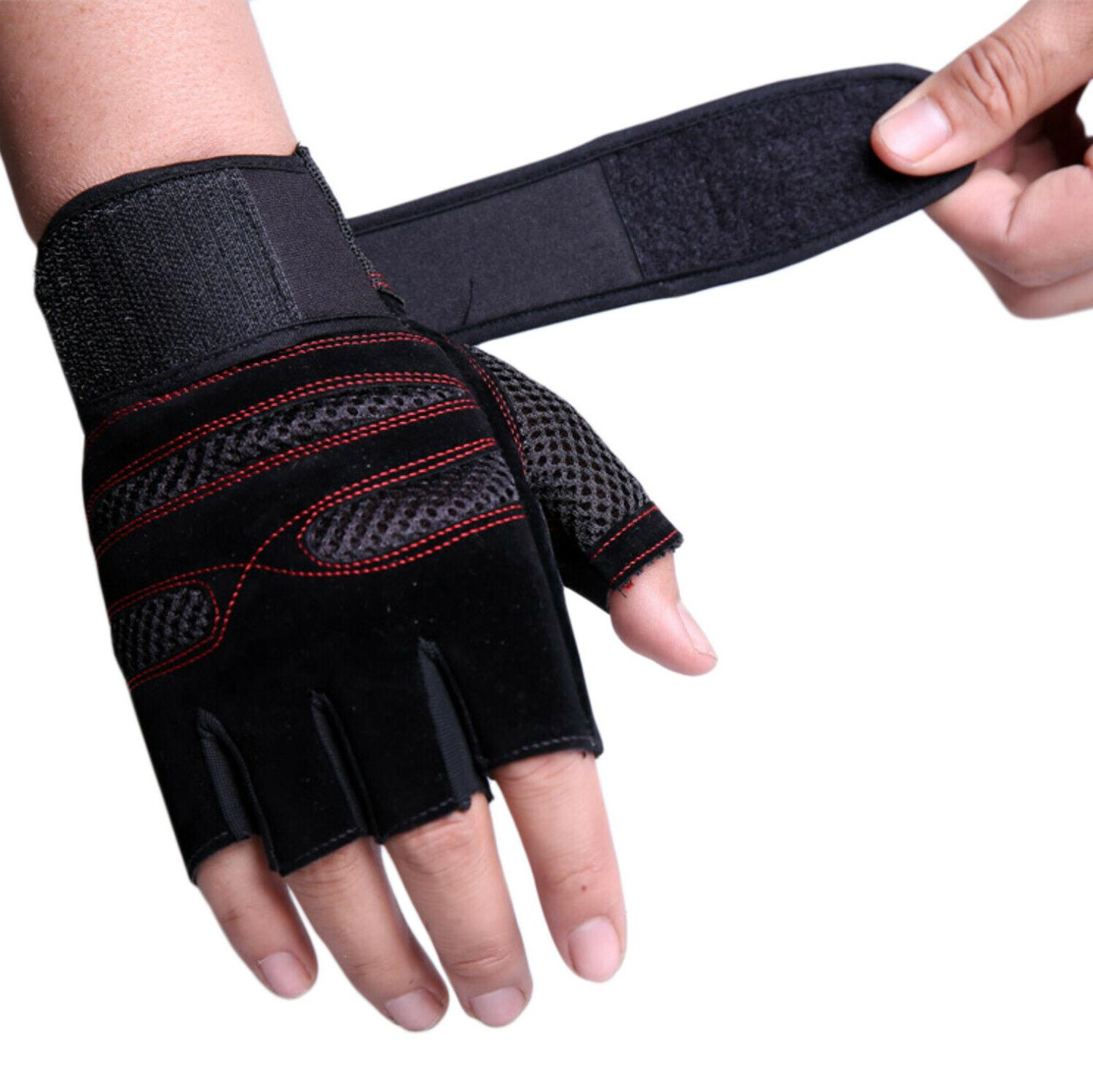 Wrist Fitness Workout Exercise Weightlifting Gym Gloves