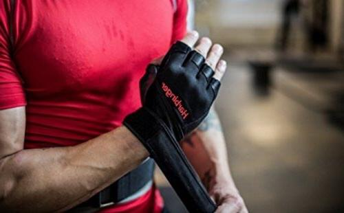 Wrist Wrap Leather Gloves
