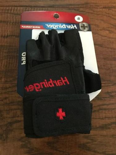 wristwrap pro leather weight fitness gloves double