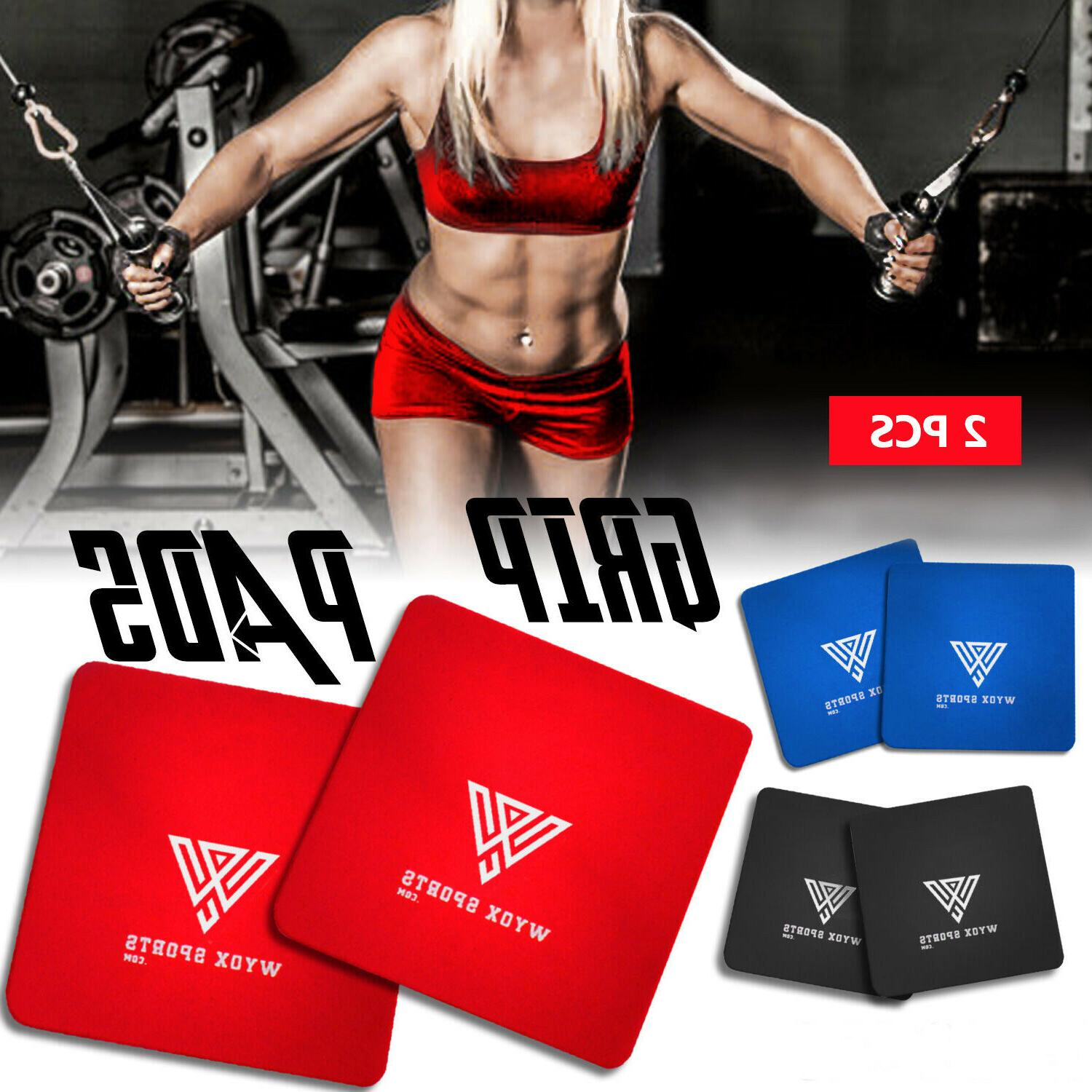 GRIP PADS BODY BUILDING  POWER TRAINING EXERCISE LATEST WEIGHT LIFTING GYM PADS