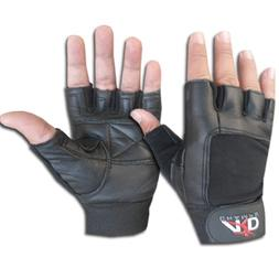 Leather Weight Lifting Gloves Long Wrist Wrap Exercise Train