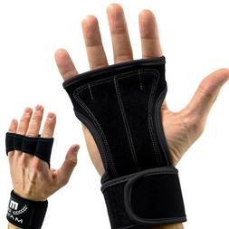 Mava Sports Leather Padded Gloves w/ Wrist Support XL, Cross