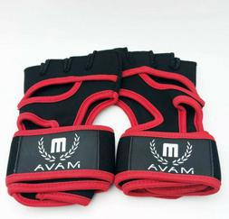 Leather Padding Gloves Cross Training Workout Wrist Support