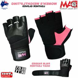 DAM LEATHER WEIGHT LIFTING GYM GLOVES, BODY BUILDING EXERCIS