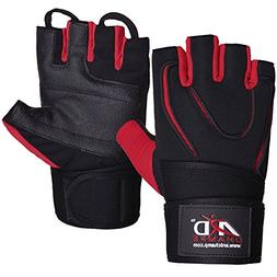 "Weight Lifting Gloves With 12"" Wrist Wraps Support for Gym W"