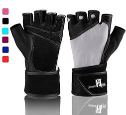 Weight Lifting Gloves with Wrist Wraps - Ideal Training Glov