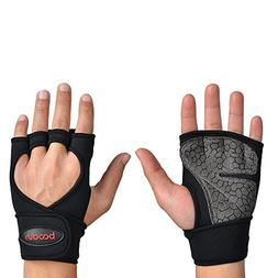 BOODUN Pro Weight Lifting Gloves,Full Palm Protection & Extr