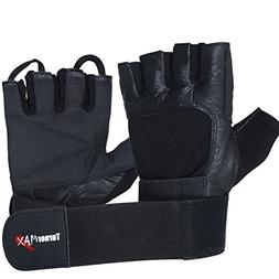 TurnerMAX Weight Lifting Gloves Deluxe Black Large