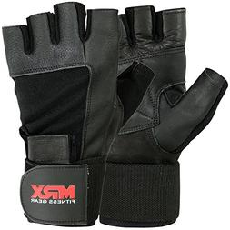 Weight Lifting Gloves Gym Power Training Long Wrist Strap Gl