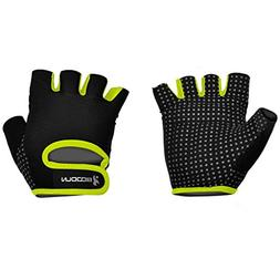BOODUN Unisex Weight Lifting Gloves, Yellow, X-Large
