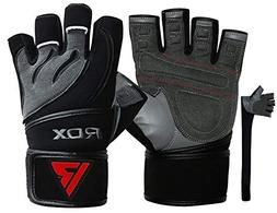 lifting gloves leather cowhide gym