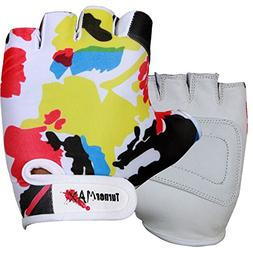 TurnerMAX Weight Lifting Gloves Lycra Leather White Large