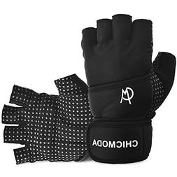 "CHICMODA Womens Mens Weight Lifting Gym Gloves with 18"" Wris"