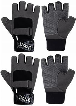 Lot Of 2 Trideer Padded Gloves sz L Weight Lifting Gym Worko