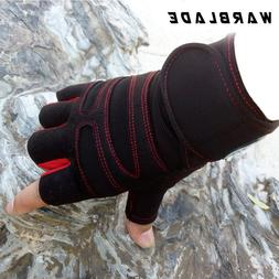 Men Women Half Finger Fitness <font><b>Gloves</b></font> Wei