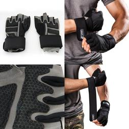 Men'S Weight Lifting Gloves For Gym Workout Crossfit Weigh