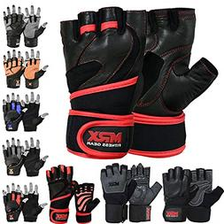 MRX Boxing & Fitness MRX Leather Weight Lifting Gloves Gym C