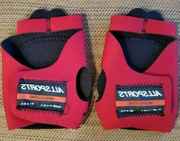 new weightlifting gloves red color