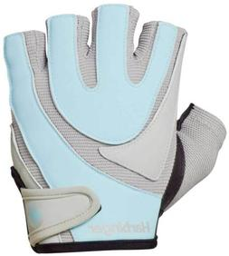 New Harbinger Women's Training Grip Gloves - Baby Blue/Gray
