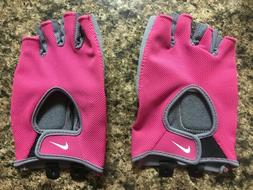 New Women's Nike Weight Lifting Gloves in Pink and Gray