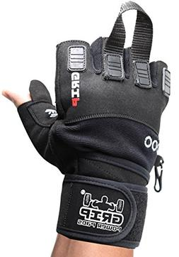 Grip Power Pads NOVA 2018 Gym Weight Lifting Gloves with Wri