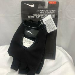 NWT Nike Mens Fundamental Training Workout Fitness Gloves Bl