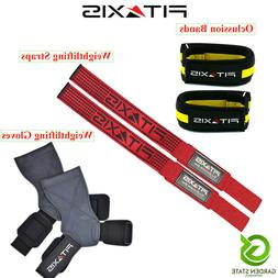 Occlusion Training Bands Weightlifting Straps Grip Gloves Fi