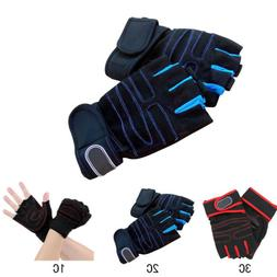 Outdoor Sports Cycling Weight Lifting Half Finger Gloves Tra