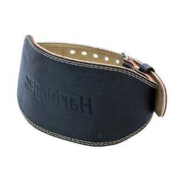 padded leather contoured weightlifting belt