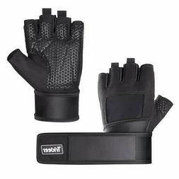 "Trideer Padded Weight Lifting Gloves with 18"" Wrist Wraps"