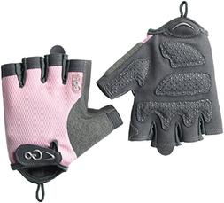 GoFit Women's Weight Training Gloves - Pearl-Tac Padded Pr
