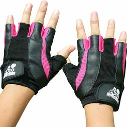 Nordic Lifting Pink & Black Women's Weight Lifting Gloves XS