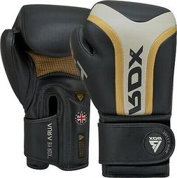 RDX Power Lifting Men's Weight Lifting Gloves Leather Long W