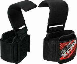 RDX Power Weight Lifting Training Gym Straps Hook bar Wrist