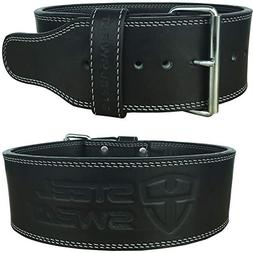 "Steel Sweat Powerlifting Belt for Weight Lifting - 4"" Wide b"