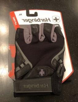 Harbinger Pro Mens Weight Lifting Gloves Black XL Leather BN