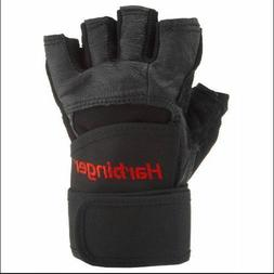 Harbinger Pro Wrist Wrap Weight leather lifting Gloves for g