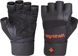 pro wristwrap weightlifting gloves vented cushioned leather
