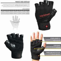 Harbinger Pro Wristwrap Weightlifting Gloves W Vented Cushio
