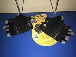 GoFit ProTrainer Sport-Tac Grip Weight Lifting Gloves - Blac
