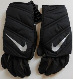 Nike Quilted Running Gloves Black/Silver Men's Large