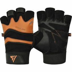 RDX S15 Leather Weightlifting Workout Gym Gloves, Multiple S