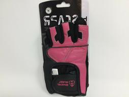 Steel Sweat Scarr Pink & Black Leather Gloves - Weight Lifti