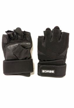 Size L Beace Weight Lifting Gym Gloves With Anti-slip Leathe